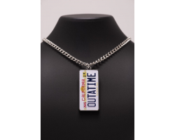 Back to the Future Number Plate Necklace