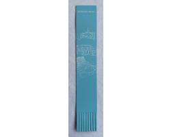 Architectural - Leather Bookmark - Aqua
