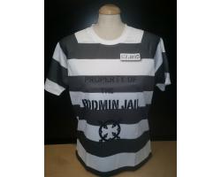 Adult T-shirt Striped MED