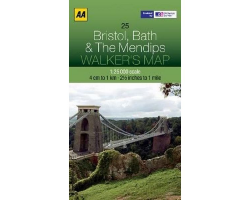 BRISTOL, BATH & THE MENDIPS WALKERS MAP