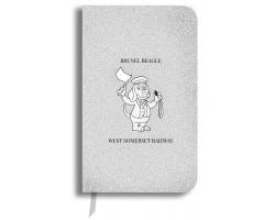 Brunel Beagle Notebook: Silver