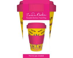 Zandra Rhodes Cactus Yellow coffee cup