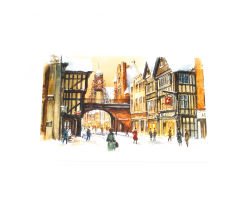 Chester Eastgate Street Christmas Cards Pack of 10