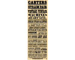 Carters Victorian-style Showbill