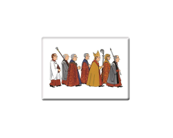 Cathedral Procession fridge magnet