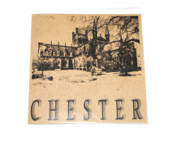 Brown Chester Cathedral Greetings Card