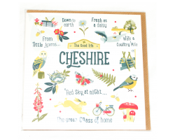 Love Your Nation Cheshire Greetings Card