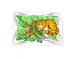 Cheshire Cat Tea Towel