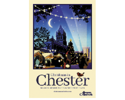 A3 Chester Christmas Town Hall Poster