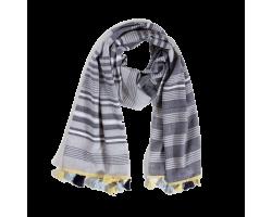Coastal cotton scarf with tassels