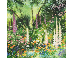 Cottage Garden greetings card