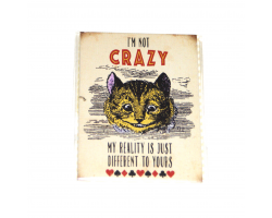 "Alice in Wonderland ""I'm Not Crazy"" Magnet"