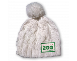 Cream Knitted Hat (0 - 1 Years)