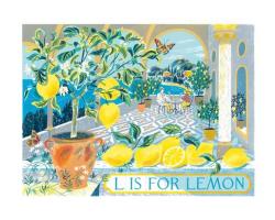 L is for Lemon greetings card