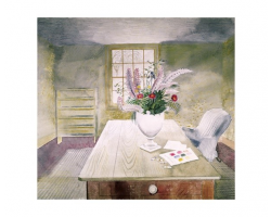 Garden Flowers on Table greetings card