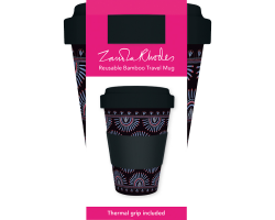 Zandra Rhodes Feather Sunray coffee cup
