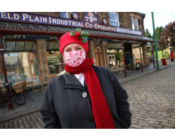 Festive Face Covering - Made at Beamish