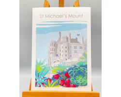St Michael's Mount Garden Print