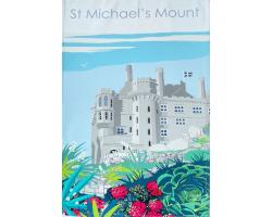 St Michael's Mount Garden Tea Towel