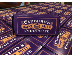 LARGE 1900s Cadbury's Dairy Milk  (360g) - The First Purple Bar!