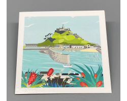 St Michael's Mount Harbour Greeting Card