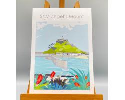 St Michael's Mount Harbour Print