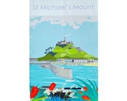 St Michael's Mount Harbour Tea Towel