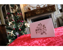 Handprinted Christmas Card - Hearty Greetings