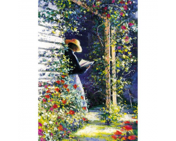 Her Place in the Sun greetings card