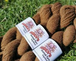 100% Alpaca Wool - Brown