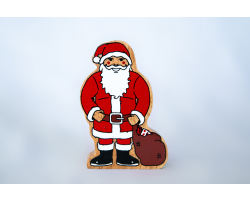 Wooden Father Christmas figure