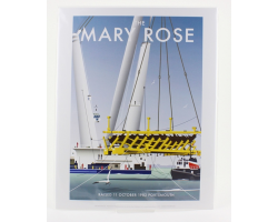 "PRINT - THE RAISING OF THE MARY ROSE (11""x14"")"