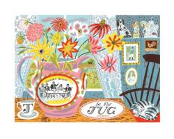 J is for Jug greetings card
