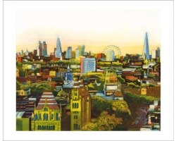 Golden City greetings card