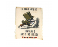 "Alice in Wonderland ""No Wonder You're Late"" Magnet"