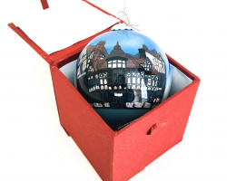 Chester Eastgate Clock and Rows Glass Bauble