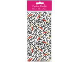 Zandra Rhodes Lipstick Wiggle tissue paper