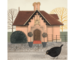 Lurking at the Lodge greetings card