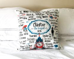 """Chester """"The Original Deva"""" Cushion Cover"""