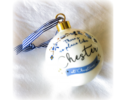 Chester at Christmas Bone China Bauble