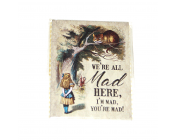 "Alice in Wonderland ""We're All Mad Here"" Magnet"