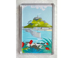 St Michael's Mount Harbour Fridge Magnet