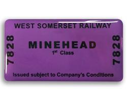 WSR Minehead Ticket Fridge Magnet