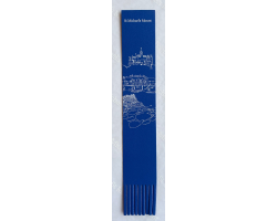 Architectural - Leather Bookmark - Navy