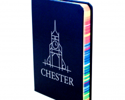 A6 Chester Notepad  with Rainbow Edges