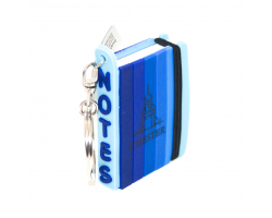 Chester Mini Notepad Keyring - Blue