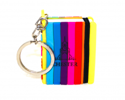 Chester Mini Notepad Keyring - Rainbow
