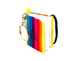 Chester Mini Notepad Keyring - Rainbow Image