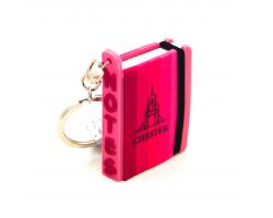 Chester Mini Notepad Keyring - Pink