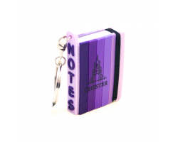 Chester Mini Notepad Keyring - Purple